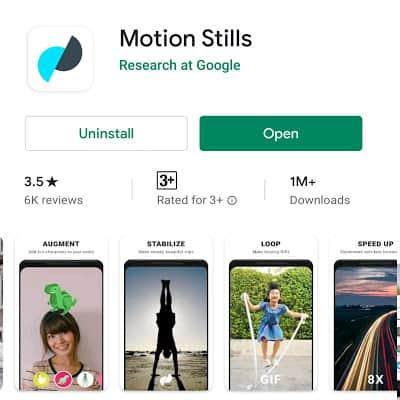 Motion Stills App: Kingtech24