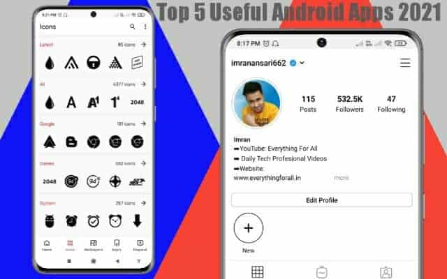Top 5 Useful Android Apps 2021 In Hindi